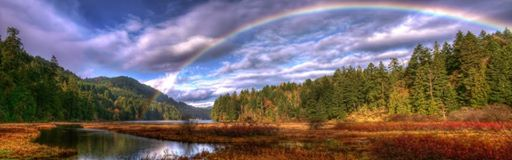 Image -Scenary rainbow over water