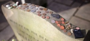 Image -veterans headstone with coins #2