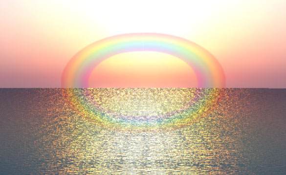 image-rainbow-circle-on-water