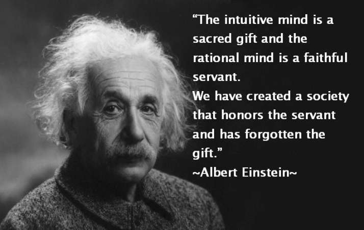 Image -intuition quote by Albert Einstein